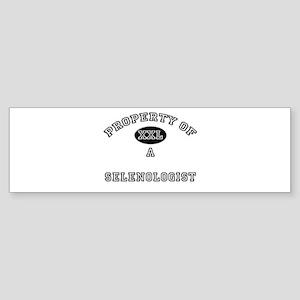 Property of a Selenologist Bumper Sticker
