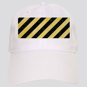 STRIPES3 BLACK MARBLE & YELLOW WATERCOLOR (R) Cap