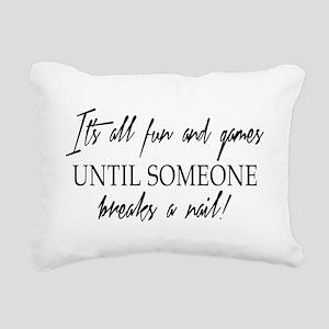 ITS ALL FUN... Rectangular Canvas Pillow