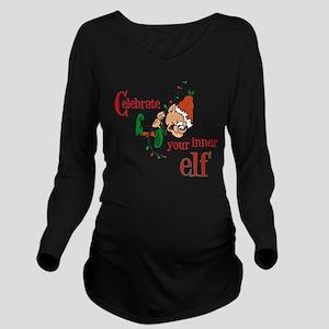 Inner Elf Long Sleeve Maternity T-Shirt