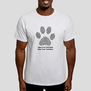 Dog Paw Print Personalized Light T-Shirt