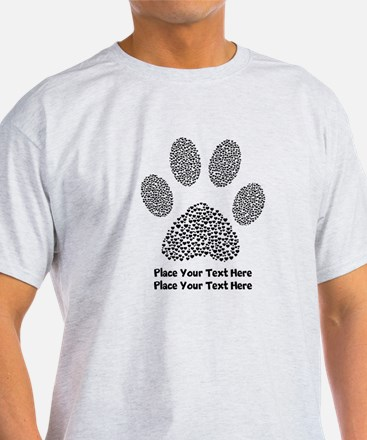 Dog Paw Print Personalized T-Shirt
