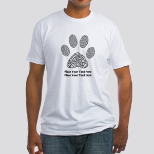 Dog Paw Print Personalized Fitted T-Shirt