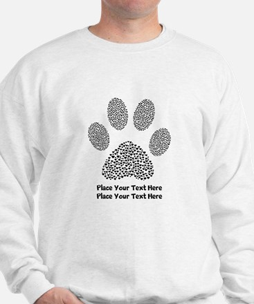 Dog Paw Print Personalized Jumper