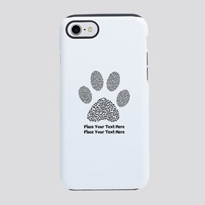 Dog Paw Print Personalized iPhone 8/7 Tough Case