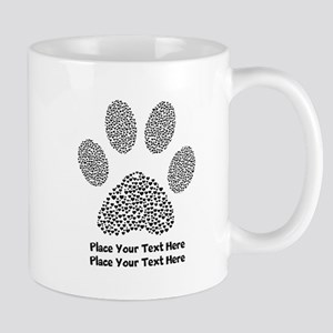 Dog Paw Print Personalized 11 oz Ceramic Mug