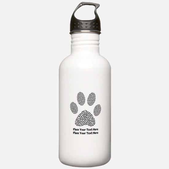 Dog Paw Print Personal Water Bottle