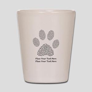 Dog Paw Print Personalized Shot Glass