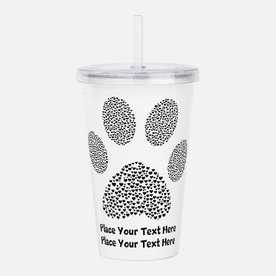 Dog Paw Print Personal Acrylic Double-wall Tumbler
