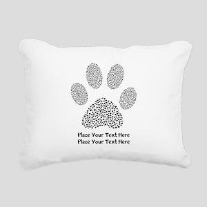 Dog Paw Print Personaliz Rectangular Canvas Pillow