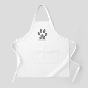 Dog Paw Print Personalized Light Apron