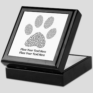 Dog Paw Print Personalized Keepsake Box