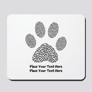 Dog Paw Print Personalized Mousepad