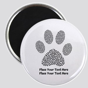 Dog Paw Print Personalized Magnet