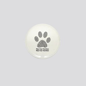 Dog Paw Print Personalized Mini Button