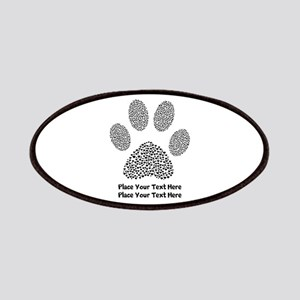 Dog Paw Print Personalized Patch
