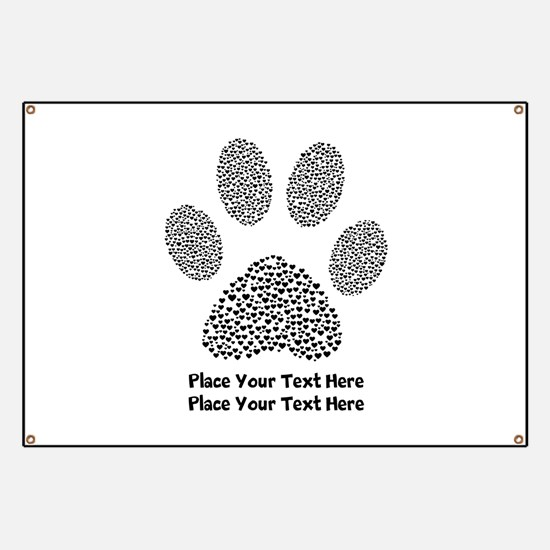 Dog Paw Print Personalized Banner