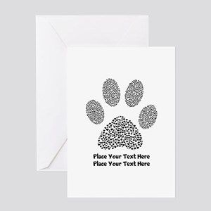 Dog Paw Print Personalized Greeting Card