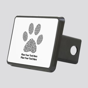 Dog Paw Print Personalized Rectangular Hitch Cover
