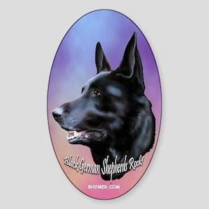 Black Sheps Rock Oval Sticker