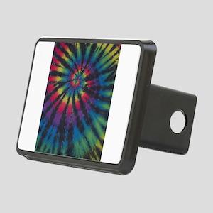 Rainbow Swirl Tie Dye Hitch Cover