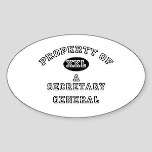 Property of a Secretary General Oval Sticker
