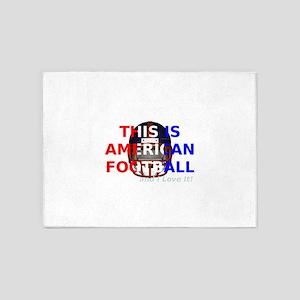 American Football 5'x7'Area Rug
