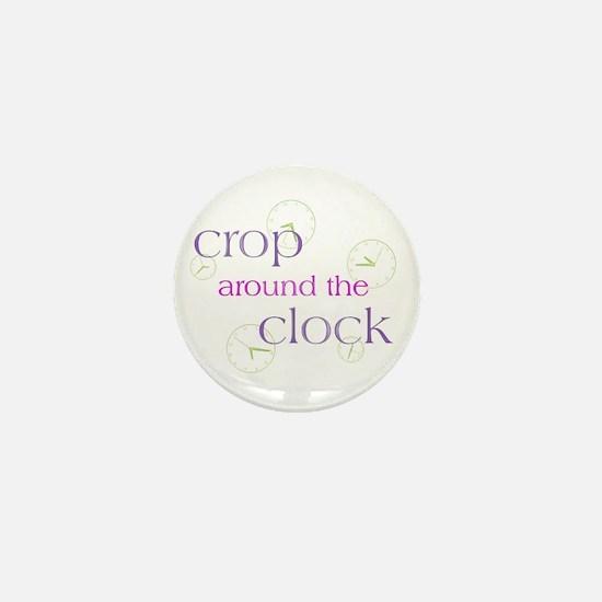 Crop Around the Clock Mini Button