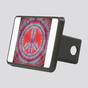 Tie Dye Peace Sign Red Hitch Cover