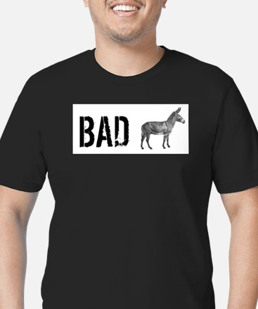 Funny Badass Men's Fitted T-Shirt (dark)