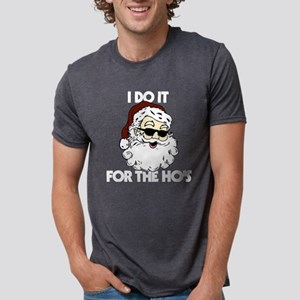 Santa - I Do It For The Ho' Mens Tri-blend T-Shirt