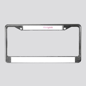 Pink Power License Plate Frame