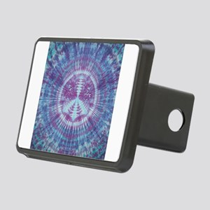 Tie Dye Peace Sign Blue Hitch Cover