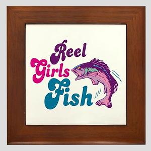 Reel Girls Fish Framed Tile