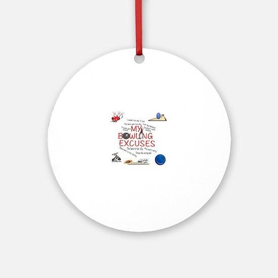 Unique Bowling Round Ornament