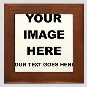Your Photo and Text Here T Shirt Framed Tile
