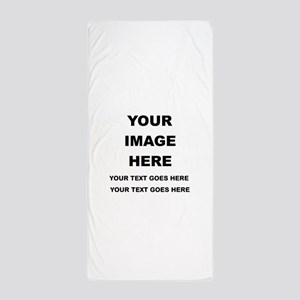 Your Photo and Text Here T Shirt Beach Towel