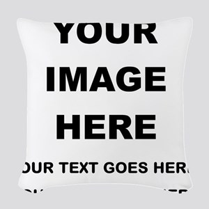 Your Photo and Text Here T Shirt Woven Throw Pillo