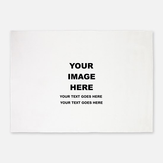 Your Photo and Text Here T Shirt 5'x7'Area Rug