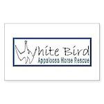 White Bird Appaloosa Horse Re Sticker (Rectangular