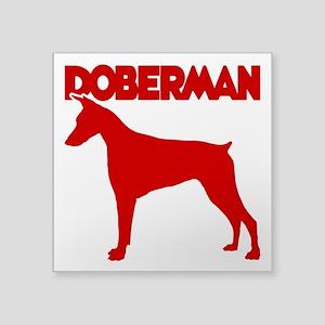 "DOBERMAN Square Sticker 3"" x 3"""
