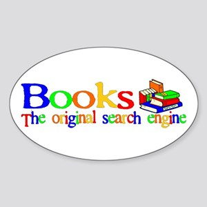 Books The Original Search Engine Oval Sticker