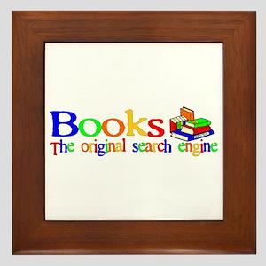 Books The Original Search Engine Framed Tile