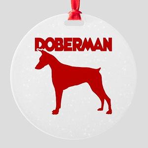 DOBERMAN Round Ornament