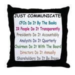 Investor Relations Throw Pillow