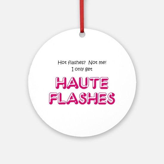 """Haute Flashes"" Ornament (Round)"