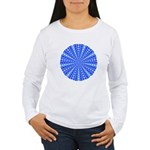 Blue Pattern 001 Women's Long Sleeve T-Shirt
