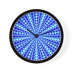 Blue Pattern 001 Wall Clock