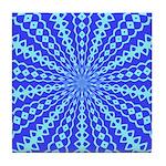 Blue Pattern 001 Tile Coaster