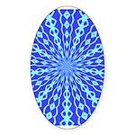 Blue Pattern 001 Oval Sticker